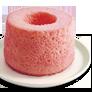 【純米シフォン 練乳いちご】<br>ためちゃんの恋パフェにも使われている、人気の定番シフォンケーキ。